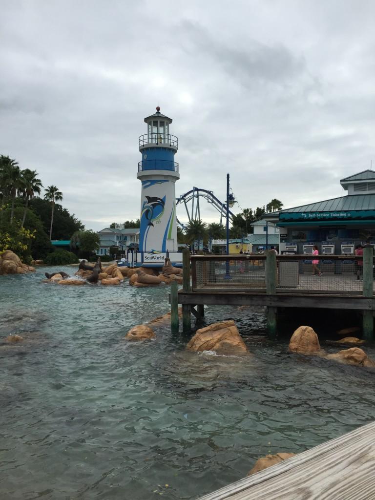 Entrada do parque SeaWorld