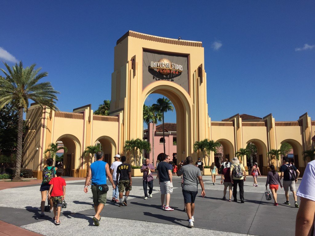 Entrada do parque Universal Studios