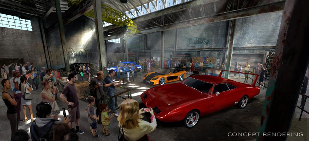 Foto divulgada pela Universal Studios da nova atração Fast and Furious