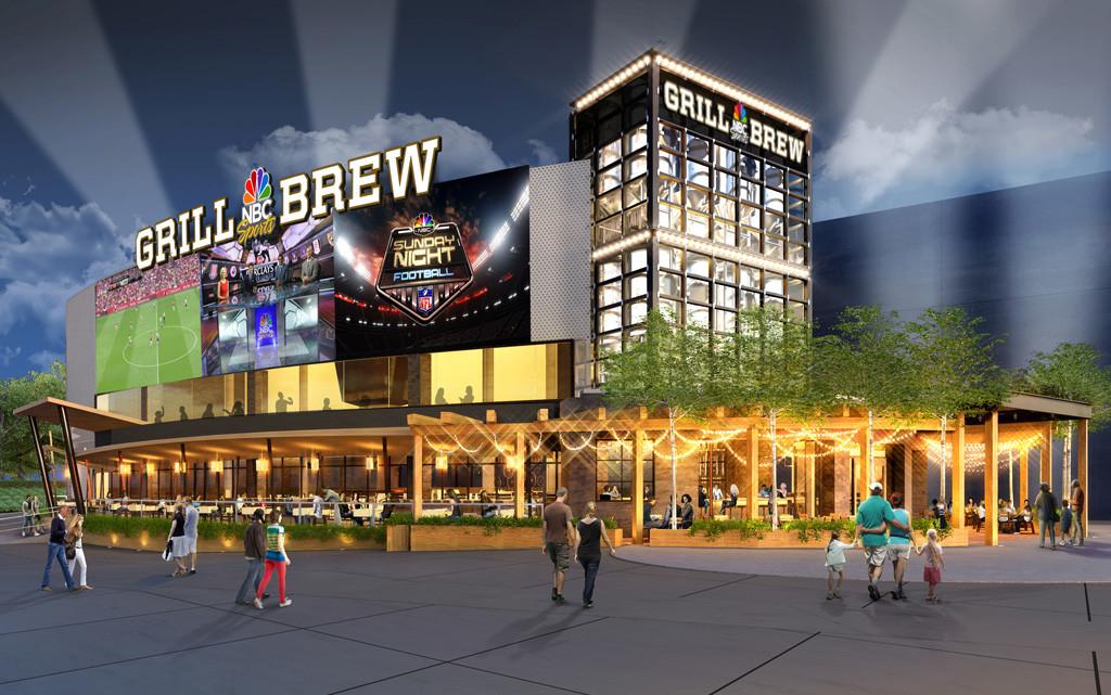 Foto de divulgação da Universal Studios do novo restaurante NBC Sports Grill & Brew
