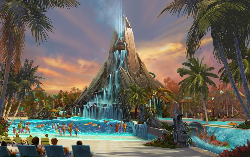 Foto de divulgação da Universal Studios do novo parque aquático Volcano's Bay