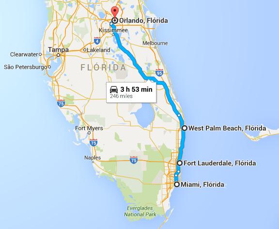 Trajeto retirado do Google Maps, não significa que será exatamente neste local que o trem irá passar.