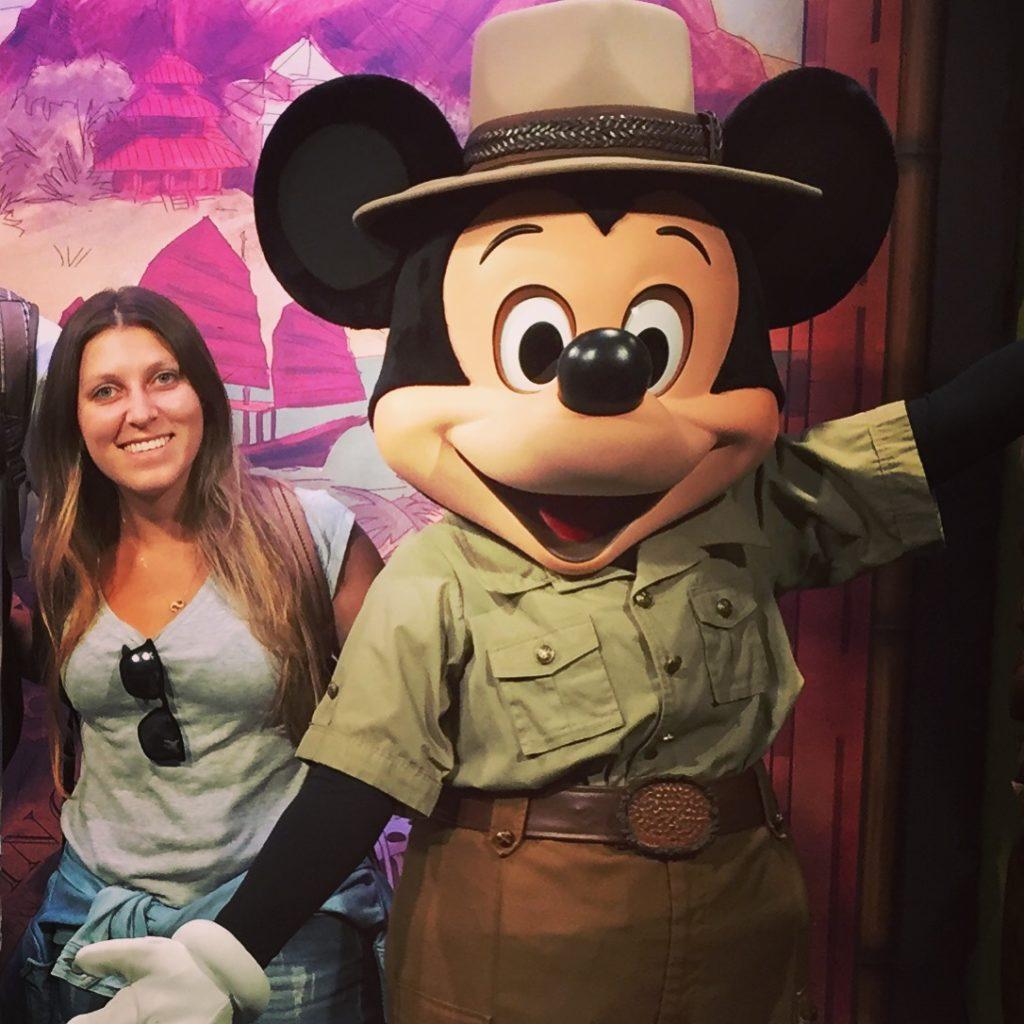 Meu encontro com o Mickey no Disney's Animal Kingdom <3